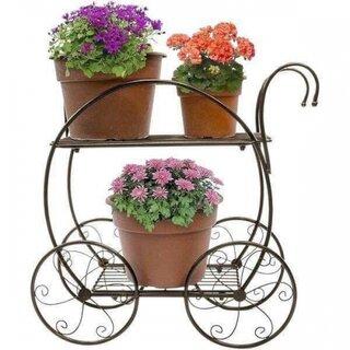 Suport fier forjat cu roti pentru flori.jpg