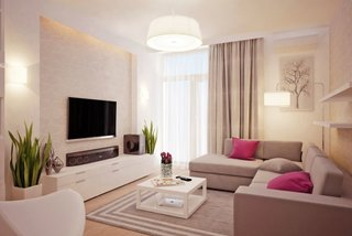 Amenajare living mic si ingust decor modern