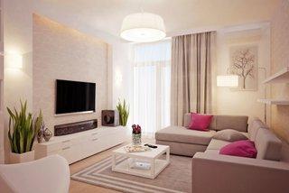 Amenajare living mic si ingust decor modern