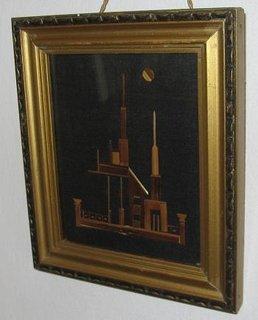 Decoratiuni interioare lucrate manual tablou castel