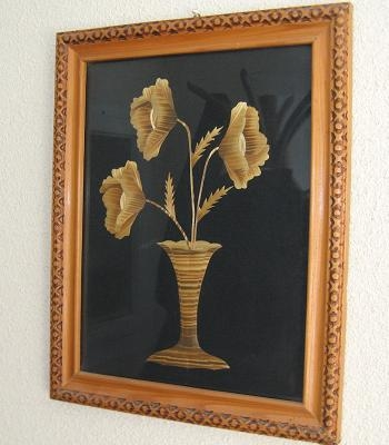 Decoratiuni interioare lucrate manual tablou flori