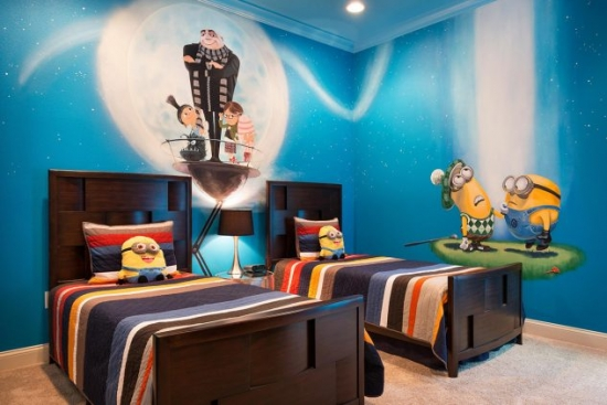 Tapet Minionii pentru camera copii