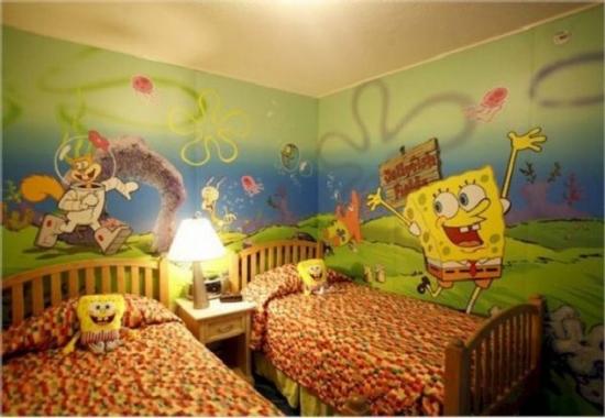 Tapet Sponge Bob camera copii