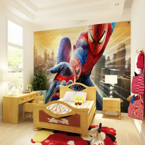 Tapet cu Spiderman camera copii