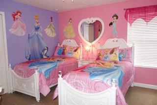 Tapet cu printese camera copii