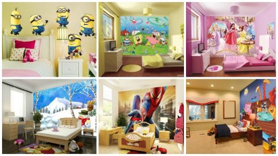 Tapet cu personaje din desene animate - idei grozave pentru dormitorul copiilor