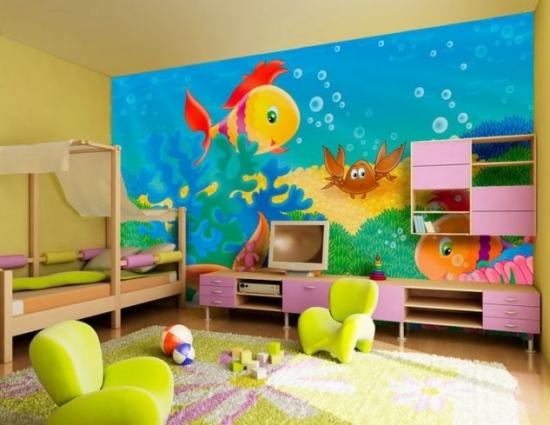 Tapet pestisori camera copii