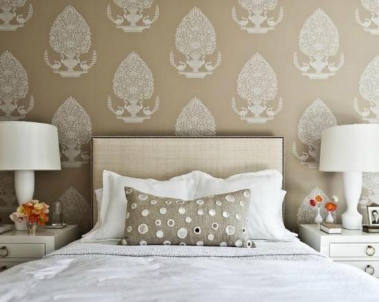 Model clasic de tapet pentru dormitor din vinil