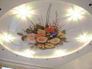 Tavan extensibil cu flori