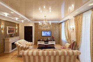 Living elegant cu tavan pe 2 niveluri