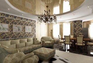 Living luxos cu tavan pe 2 niveluri