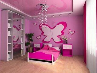Tavan roz extensibil dormitor copii