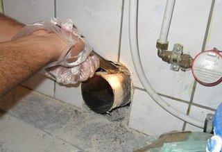 Obiecte sanitare teava scurgere WC demontare