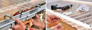 Montare acoperis policarbonat terasa