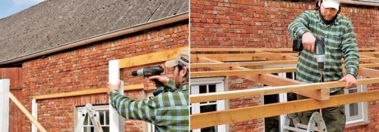 Structura din lemn pentru terasa