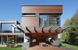 Terasa cu acoperis de sticla