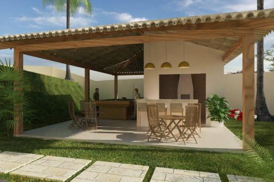 Proiect de terasa acoperita cu gratar inclus