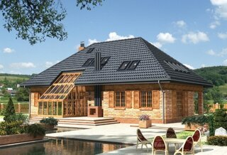 Casa cu acoperis negru