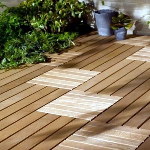 Dale din lemn pentru pavaje exterioare