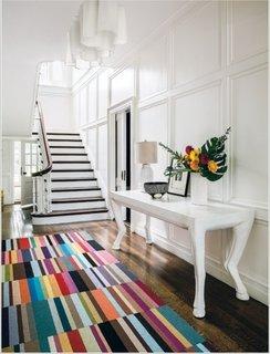 Traversa lana multicolora