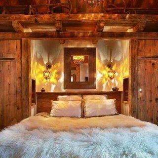 Stil rustic amenajare dormitor