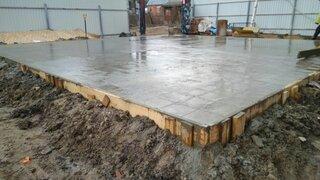 Placa beton turnata
