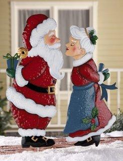 Ornament Mos Craciun si doamna Craciun