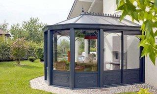 Veranda policarbonat cu acoperis metalic