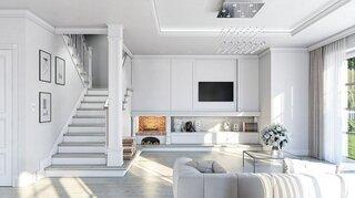 Open space living cu scara interioara