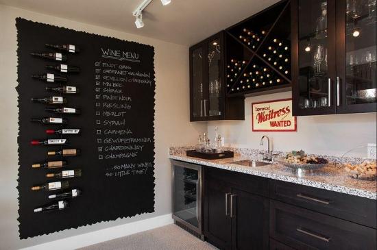Motive in imagini pentru care sa alegi ca finisaj decorativ vopseaua cu efect de tabla de scris