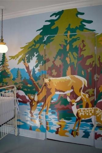 Pictura muala cu caprioara bambi pentru o camera de bebelus