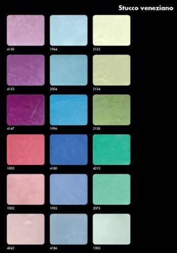 Paleta cromatica pentru stucco venetian