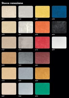 Paleta de culori calde pentru stucco veneziano