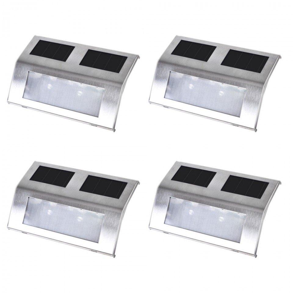 4 x spoturi solare pentru scari, interior/exterior