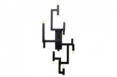 Aplica neagra din inox cu 6 becuri 30,5x28,5x73,5 cm Elements Versmissen