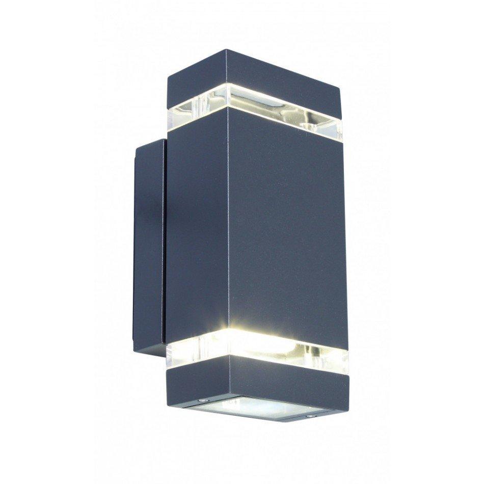 Aplica pentru iluminat exterior gri închis, aluminiu, stil modern, Lutec