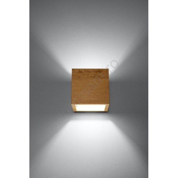 Aplică perete QUAD, cubica, din lemn, design modern