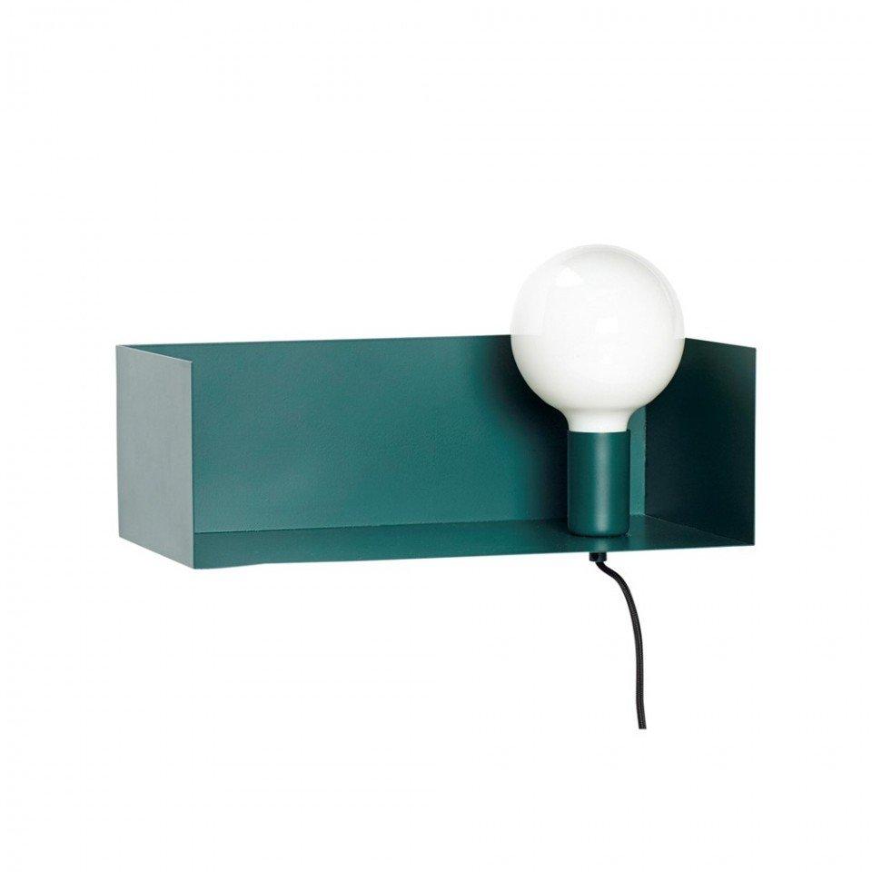 Aplica verde cu raft depozitare Box Hubsch, metal