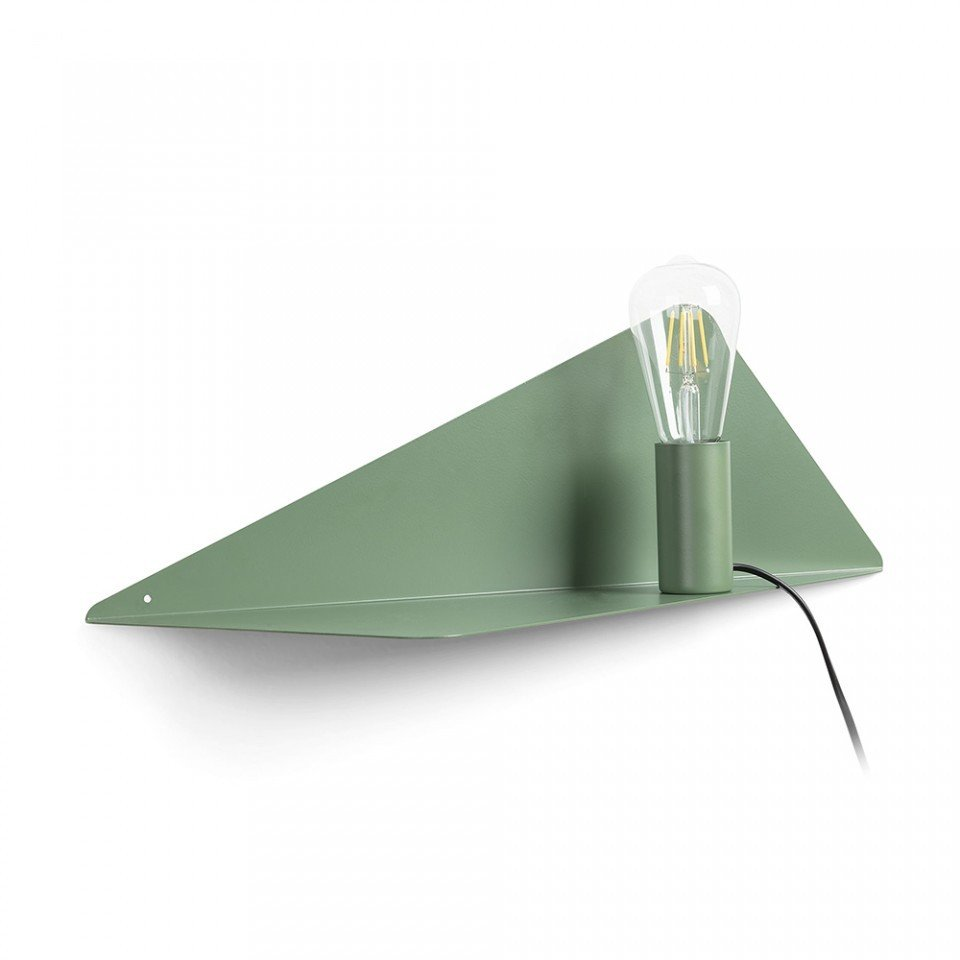 Aplica verde  cu raft metalic Panang La Forma, fasung cu magnet
