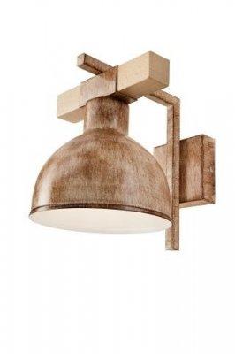 Aplica vintage E27 Agnese 35345 Lamkur, metal/lemn