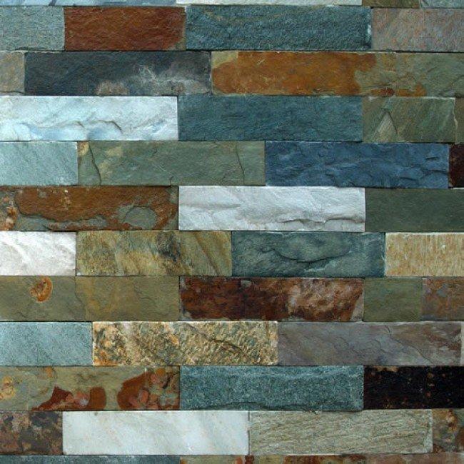 Ardezie VNS 30x7x1,5 cm, verde-maro-gri, mat