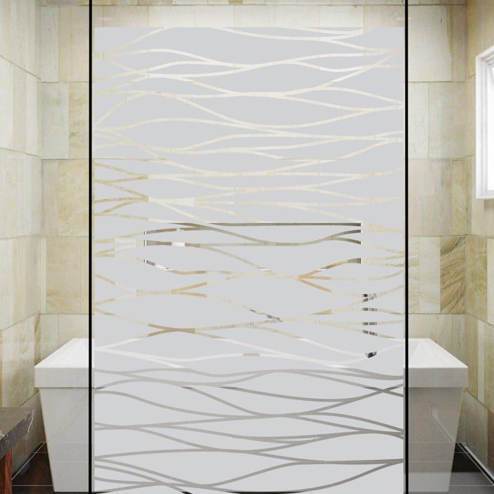 Autocolant pentru cabină de duș Ambiance The Sea, alb