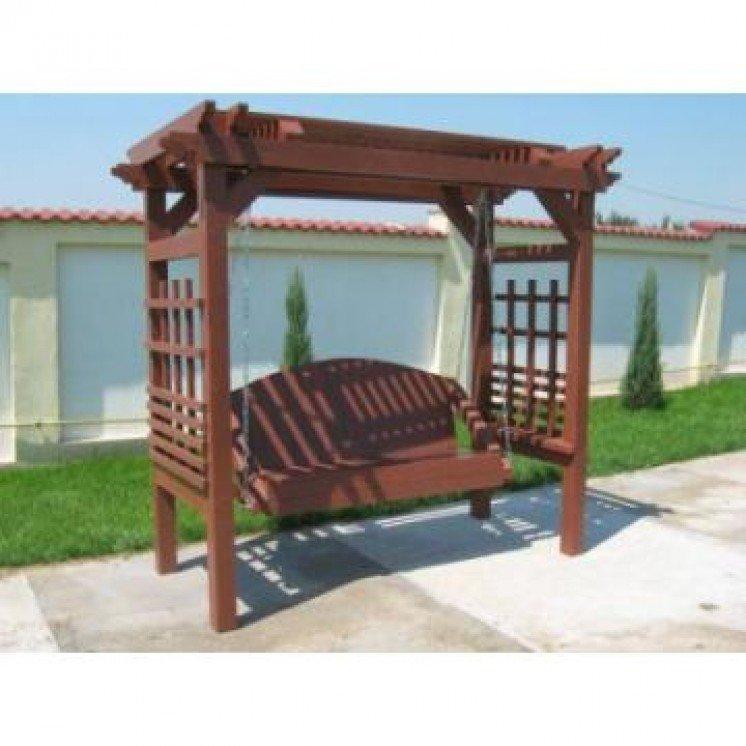 Balansoar pentru gradina cu pergola, din lemn