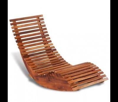 Balansoar sezlong din lemn de acacia, design ergonomic