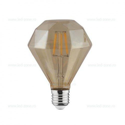 Bec LED Vintage E27 4W Diamant
