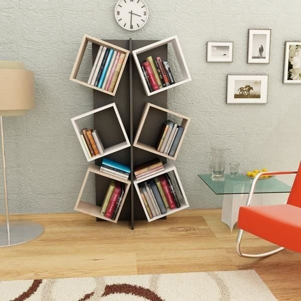 Biblioteca din pal, Marcella Homs RMI011, multicolor, 155 x 91.5 x 24 cm