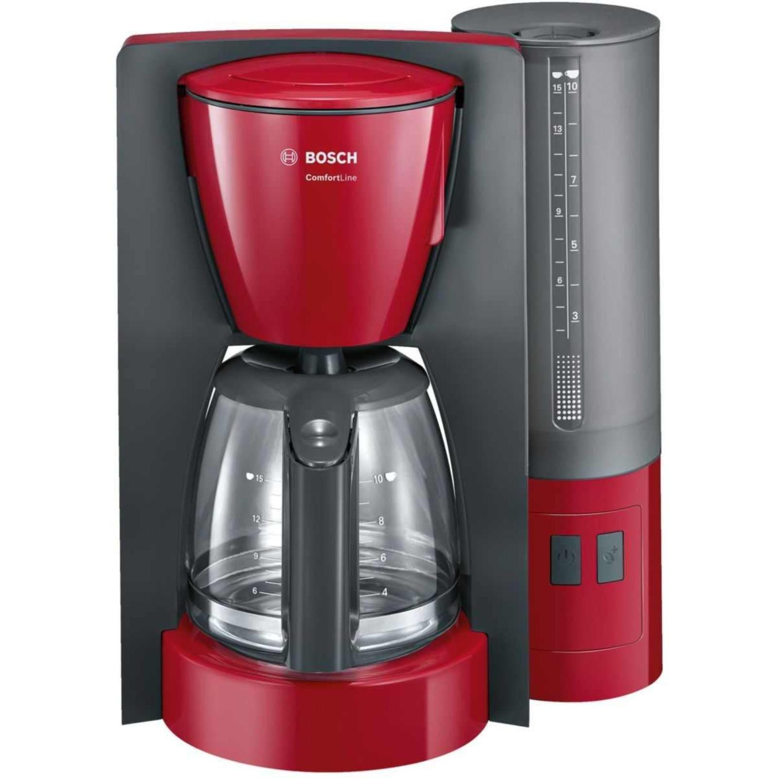 Cafetiera Bosch TKA6A044, 1.2 l, selector aroma, anti-picurare, oprire automata, program decalcifiere, Rosu