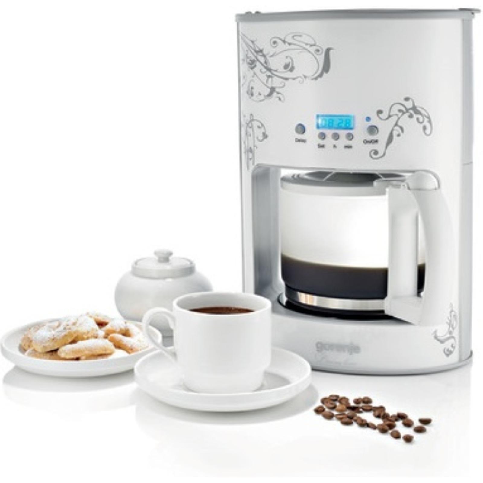 Cafetiera Gorenje CM 12 W, capacitate 1.2 l, functie timer, alba