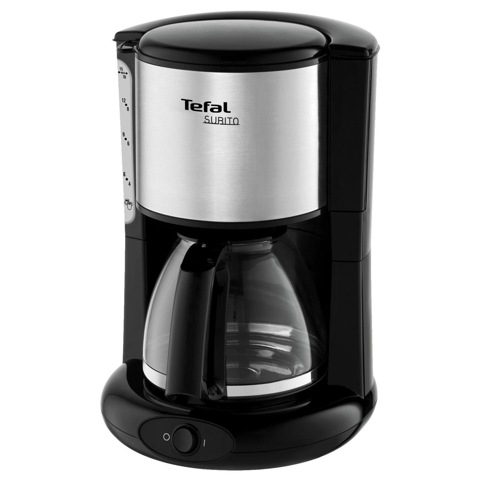 Cafetiera Tefal CM360812, 1000 W, 1.25 l, 15 cesti, sistem anti-picurare