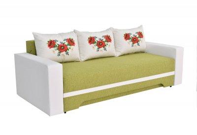 Canapea Bianca Arne 72, extensibila, alb-verde